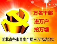 """湖北千赢电子游戏平台网""""万名干部进万村入万户挖万塘""""专题制作发布"""