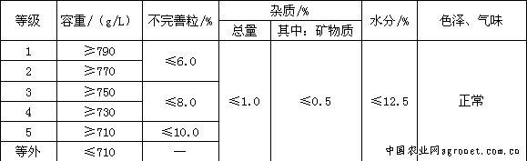 小麦国家标准GB1351-2008