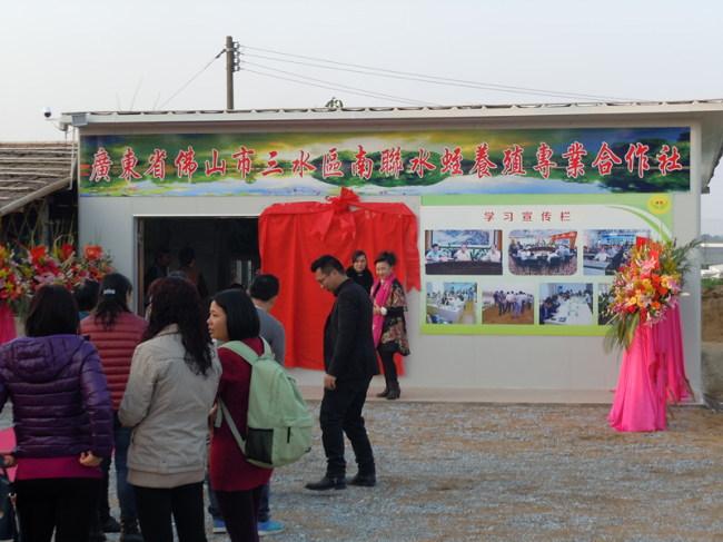 广东佛山市三水区芦苞镇南联水蛭养殖专业合作社成立
