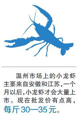 浙江温州:小龙虾新鲜上市价格有点贵 一个月后价格才会回落