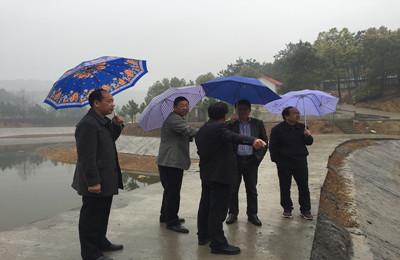 江西九江市渔业局一行到瑞昌市督导现代渔业项目建设