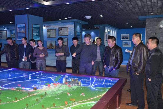 辽宁锦州市海洋与渔业局组织参观大笔架山国家级海洋特别保护区宣教中心