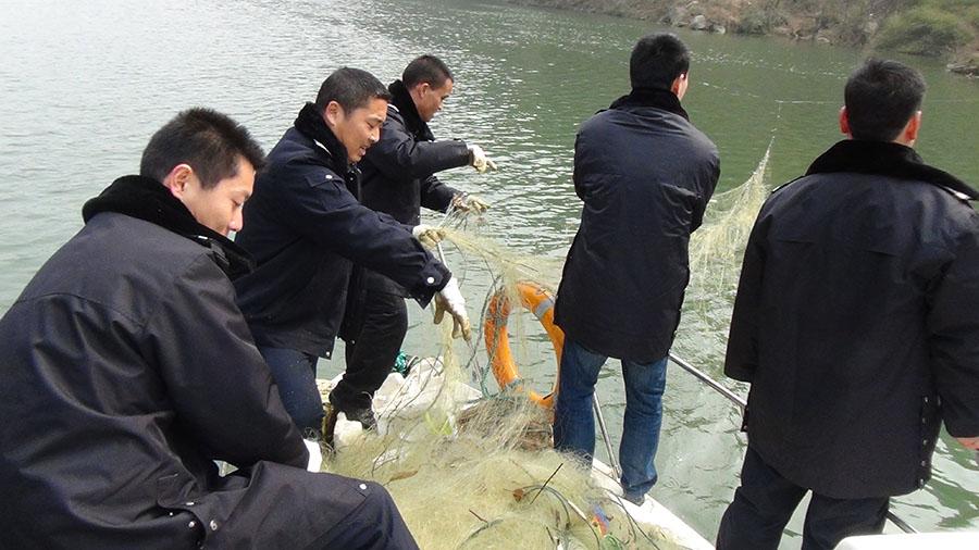 陕西安康石泉县启动2016年春季汉江禁渔工作