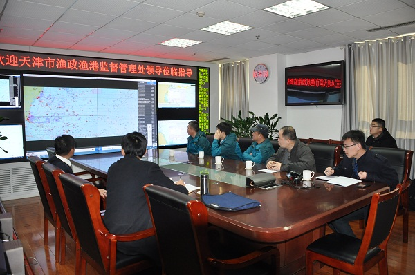 天津市渔政渔港监督管理处来山东日照市调研渔业信息化建设工作