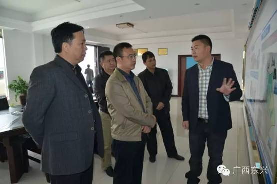 广西东兴市市长陈建林到京岛海洋渔业(核心)示范区调研