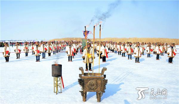 新疆福海县福海县2016年乌伦古湖冬捕旅游文化活动开幕