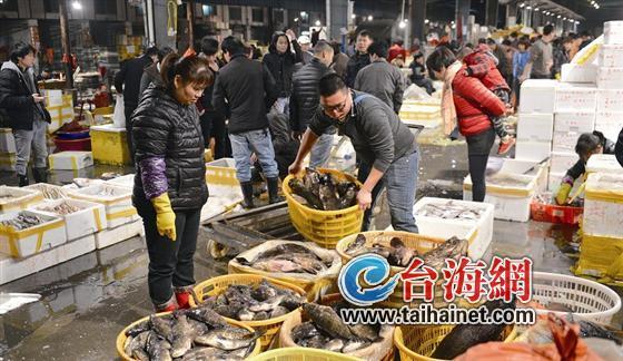 福建厦门节前海鲜市场火爆 高档海鲜几乎每天涨一成