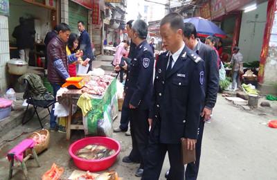 江西九江修水县渔政管理站加强渔业市场整顿
